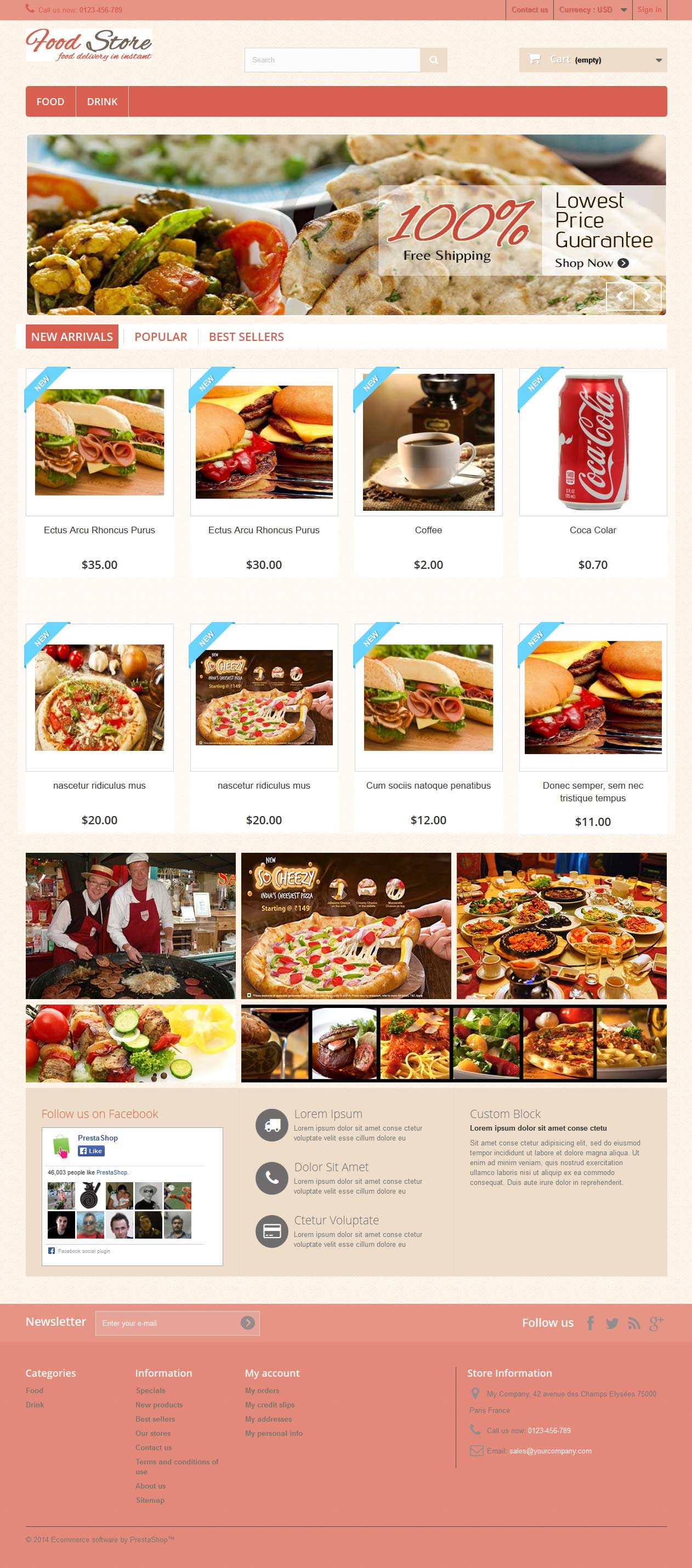 E-Commerce Template Food Store